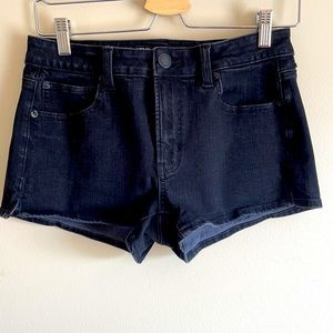 American Eagle Hi-Rise Black Shortie Jean Shorts